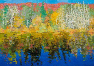 dead trees, Tea Lake, 2021